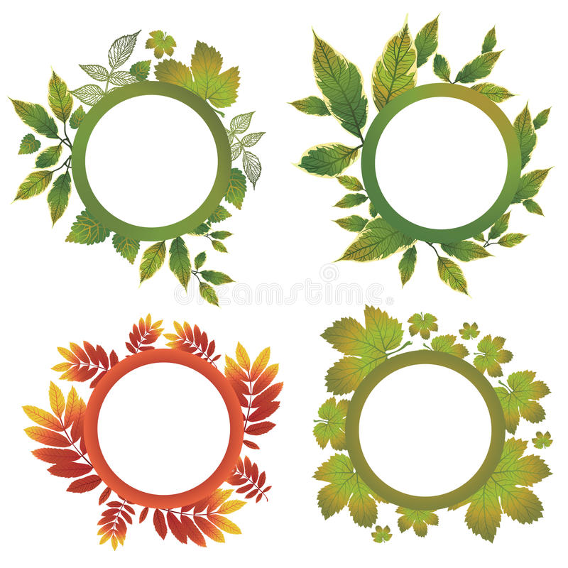 Vector set of autumn leafs