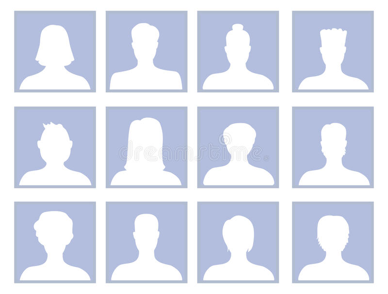 Download Vector Set With Avatar Icons Royalty Free Stock Photography - Image: 27040797
