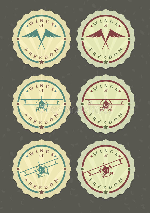 Vector set of aviator icons vector illustration