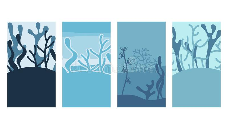 Vector set of backgrounds with copy space for text stock illustration