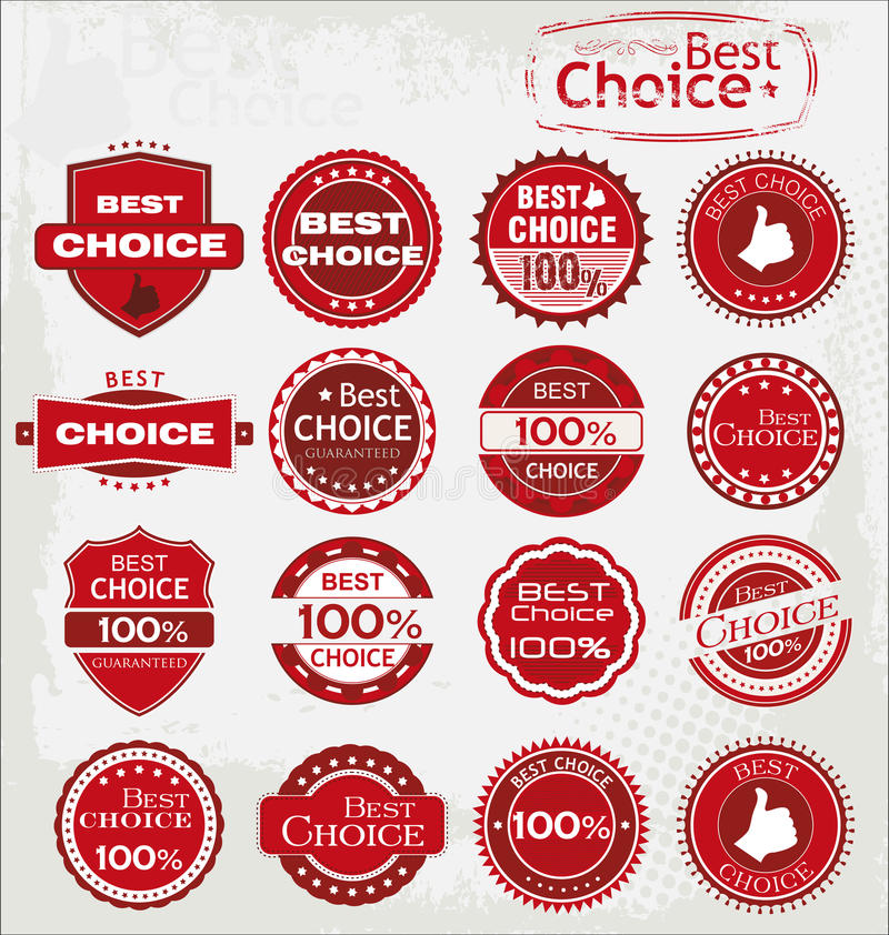 Vector set of best choice icons royalty free illustration