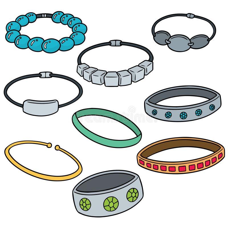 Vector set of bracelet royalty free illustration