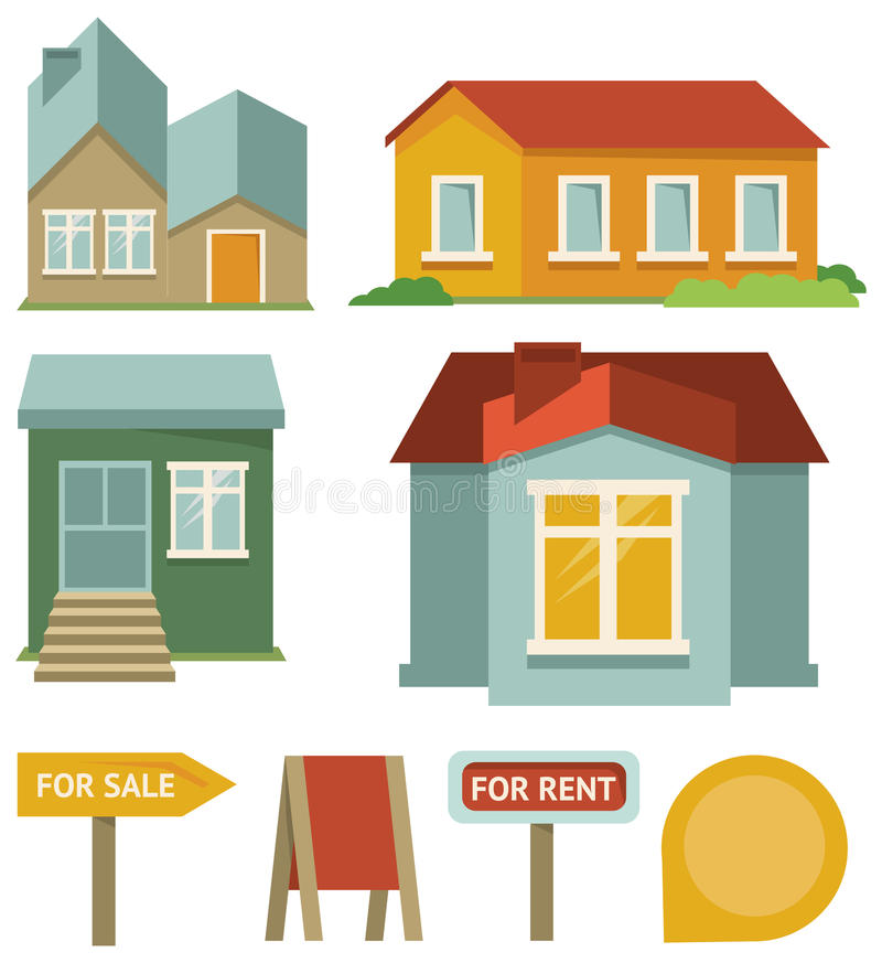 Download Vector Set With Buildings Icons Stock Vector - Image: 27299099