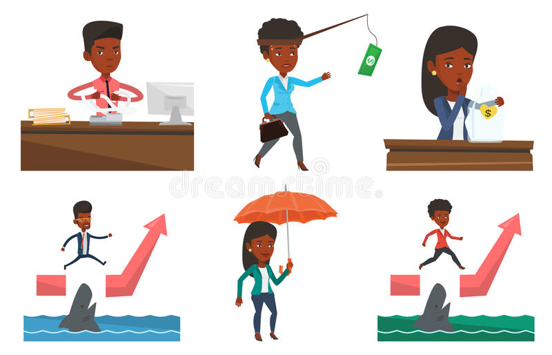 Download Vector Set Of Business Characters. Stock Vector - Image: 83712050