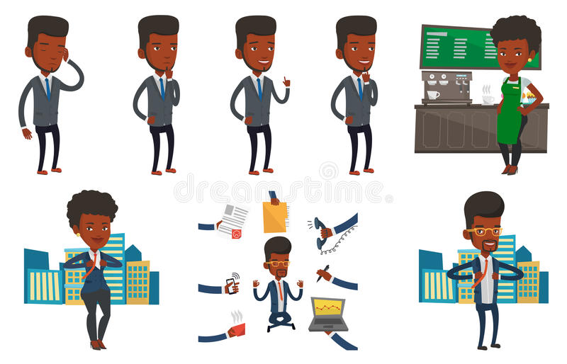 Download Vector Set Of Business Characters. Stock Vector - Image: 83711562