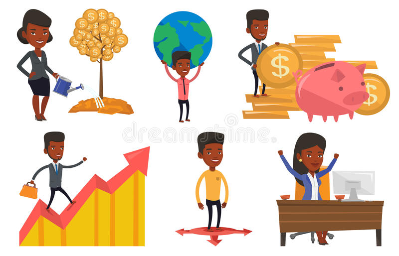 Download Vector Set Of Business Characters. Stock Vector - Image: 83711743