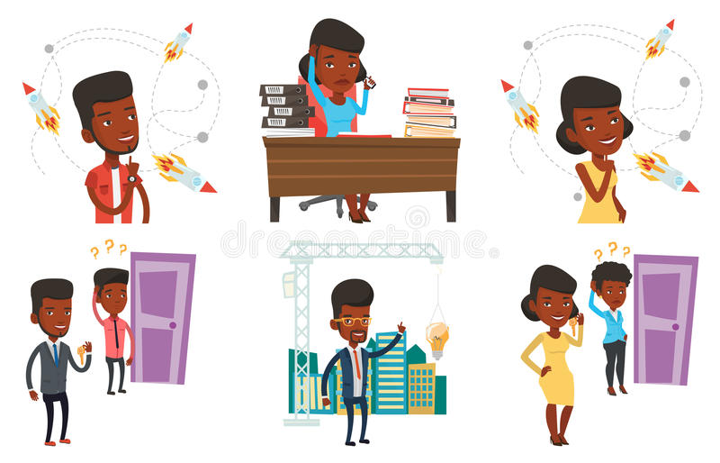 Download Vector Set Of Business Characters. Stock Vector - Image: 83713510