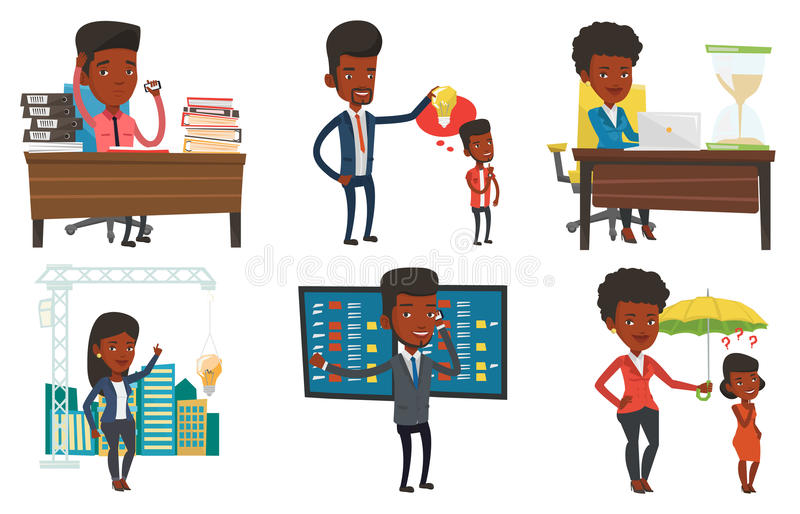 Download Vector Set Of Business Characters. Stock Vector - Image: 83712300