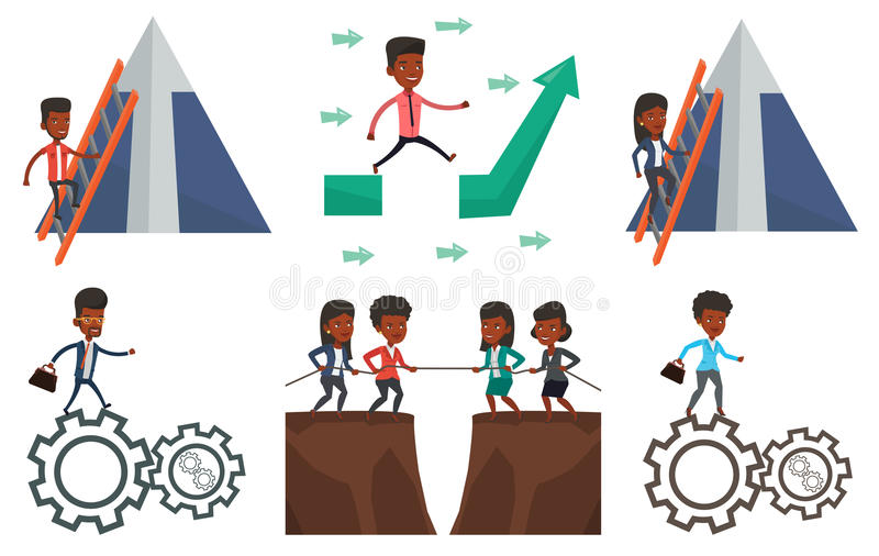 Download Vector Set Of Business Characters. Stock Vector - Image: 83713192