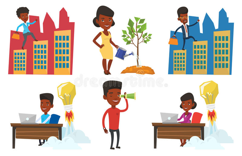 Download Vector Set Of Business Characters. Stock Vector - Image: 83712208