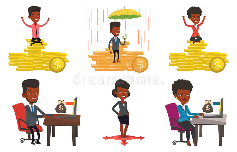 Download Vector Set Of Business Characters. Stock Vector - Image: 83712517