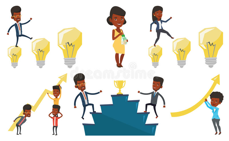 Download Vector Set Of Business Characters. Stock Vector - Illustration of collection, cartoon: 83713597