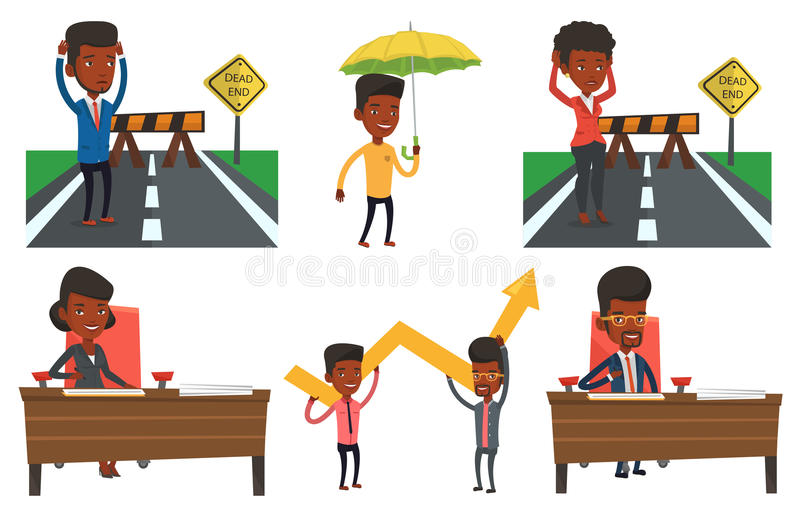 Download Vector Set Of Business Characters. Stock Vector - Image: 83712016