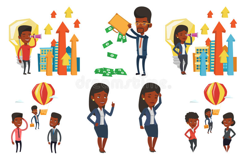 Download Vector Set Of Business Characters. Stock Vector - Image: 83713462