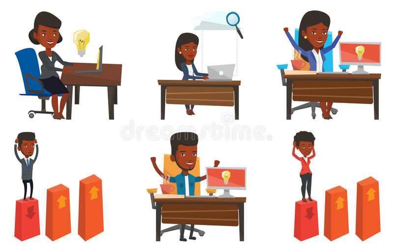 Download Vector Set Of Business Characters. Stock Vector - Image: 83713251