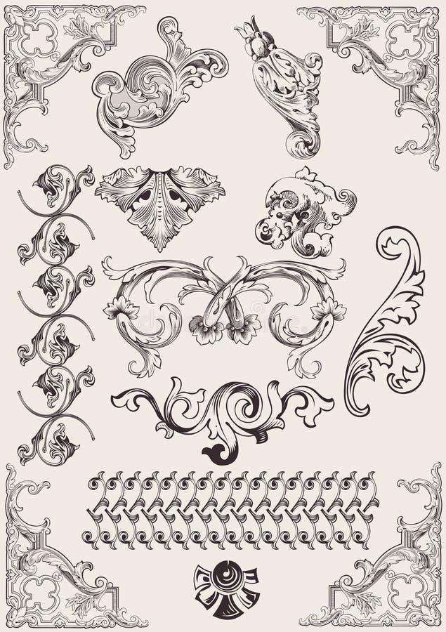 Download Vector Set: Calligraphic Design Elements Stock Vector - Image: 25766757