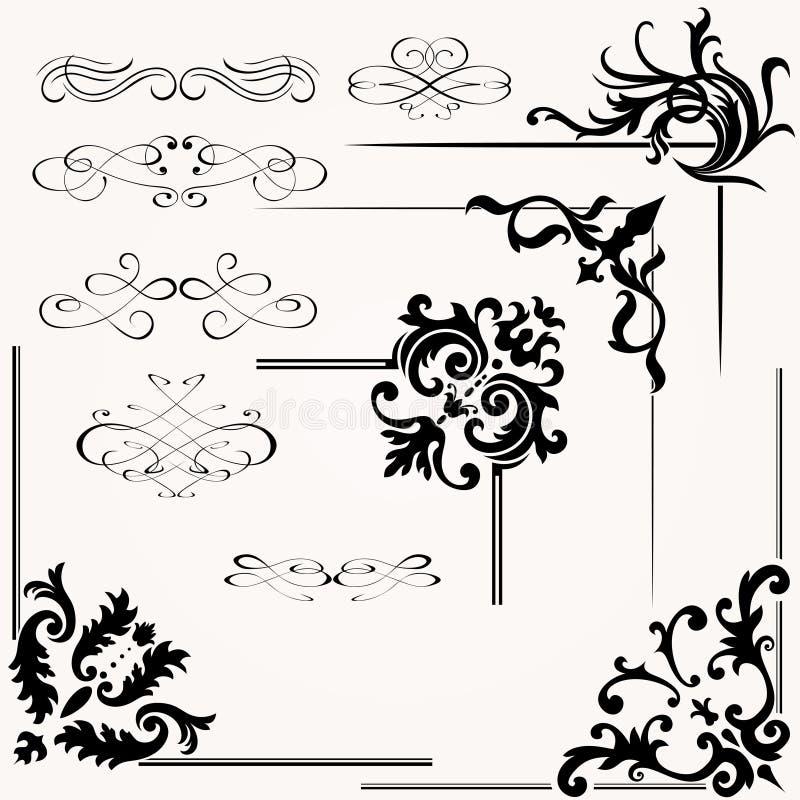 Download Vector Set Of Calligraphic Design Stock Vector - Image: 31514364