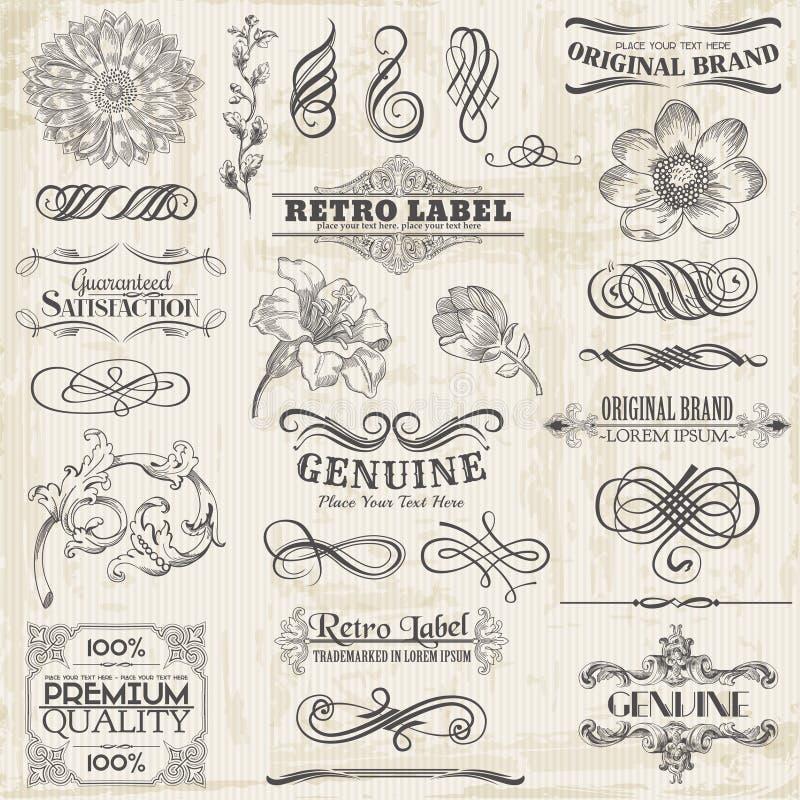 Download Calligraphic Design Elements Stock Vector - Image: 30205941