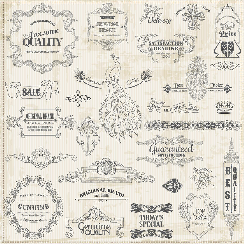 Download Calligraphic Design Elements Stock Vector - Image: 30205998