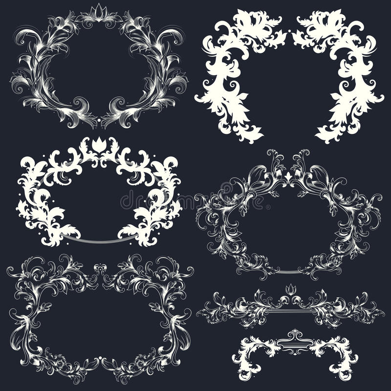 Vector Set Of Calligraphic Design Elements Royalty Free Stock Photo