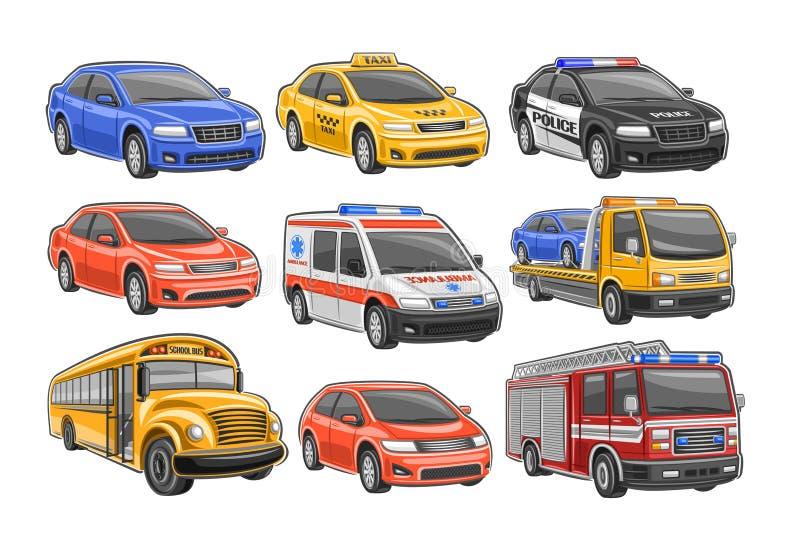 Vector Set of Cars stock abbildung