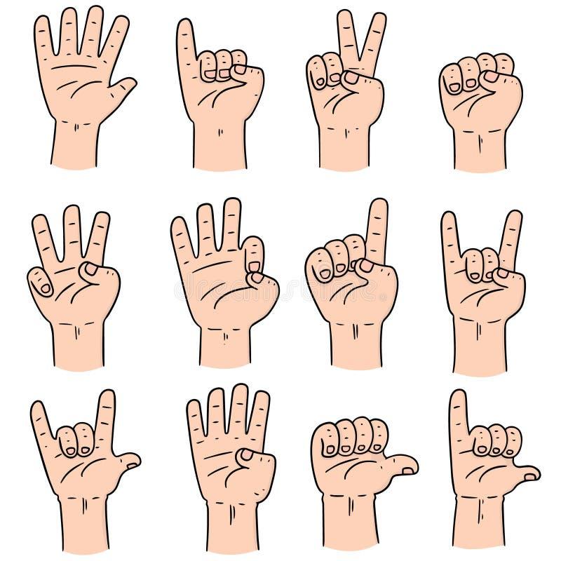 Vector set of cartoon hand vector illustration