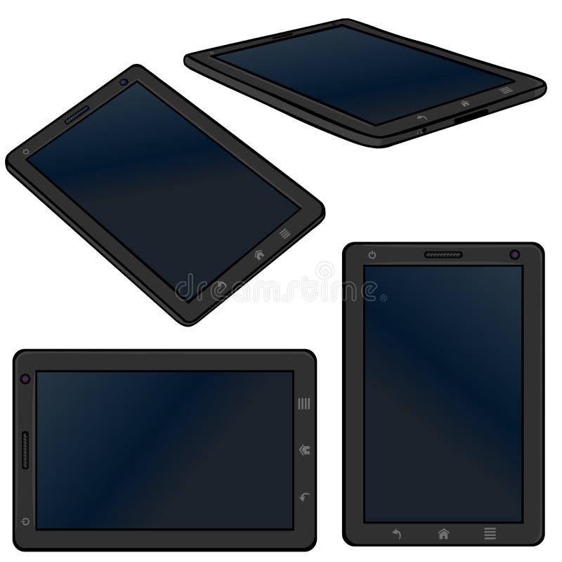 Vector Set of Cartoon Tablet PC vector illustration