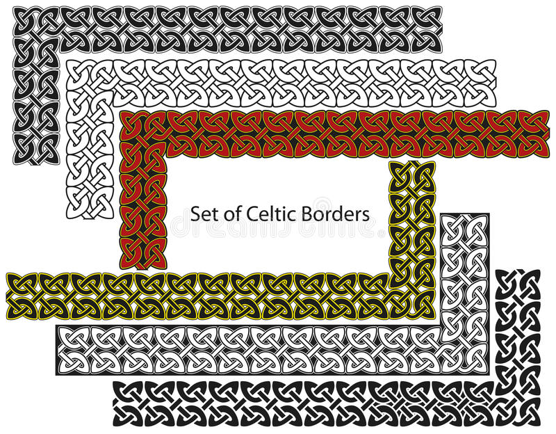 Vector Set Of Celtic Style Borders Stock Images