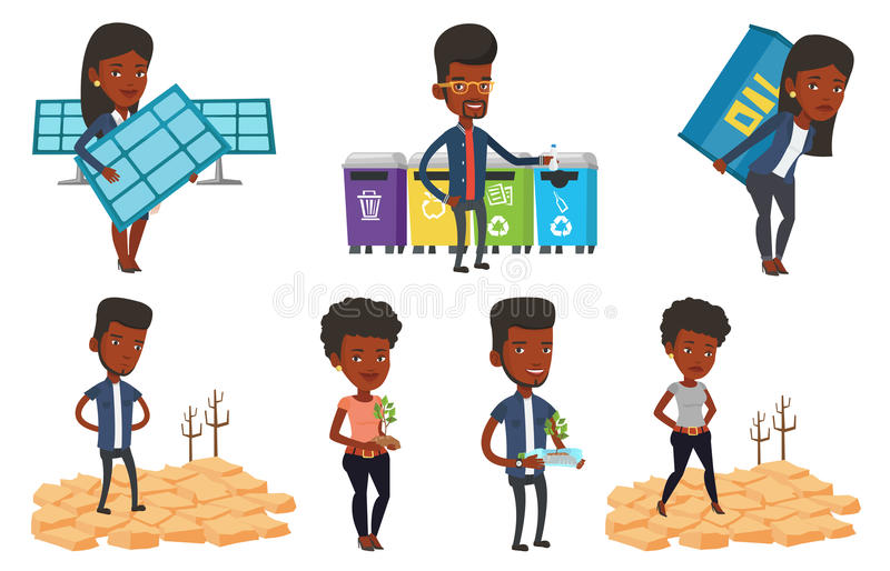 Download Vector Set Of Characters On Ecology Issues. Stock Vector - Illustration of earth, collection: 83713007