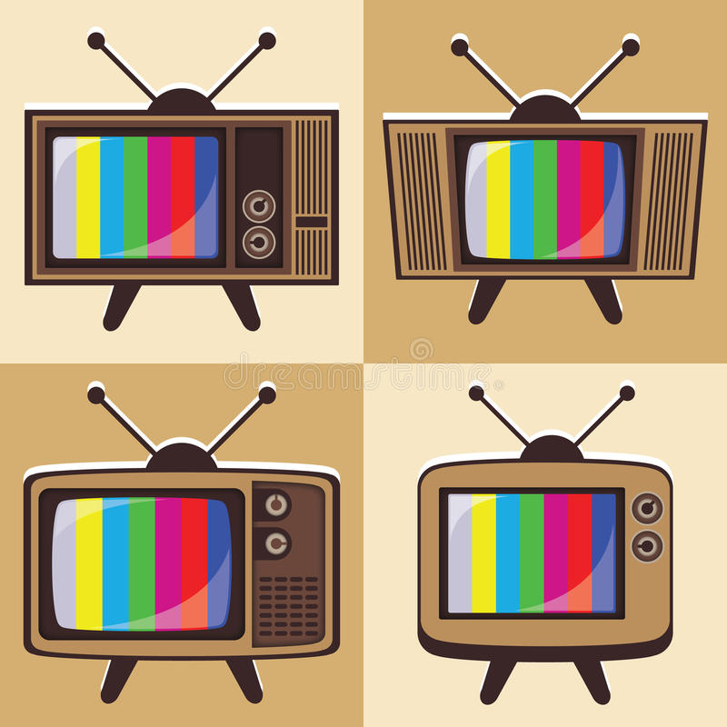 Vector Set Of Classic Television 2 Stock Photo