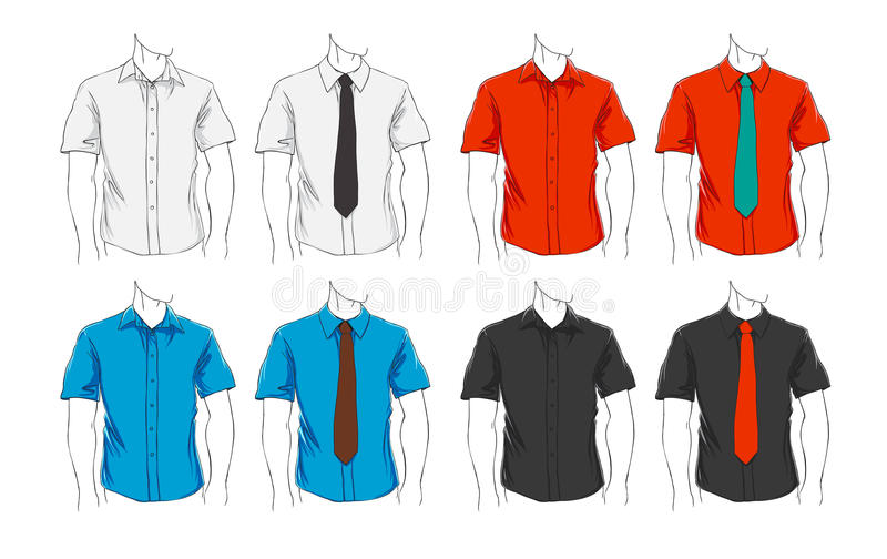 Vector set of clothes stock illustration