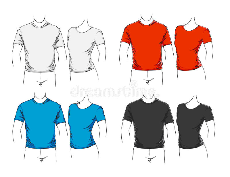Vector set of clothes royalty free illustration