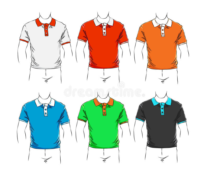 Vector set of clothes vector illustration