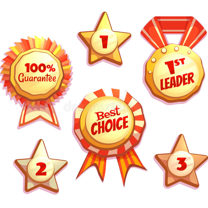 Vector set of colored brightly badges. With labels vector illustration