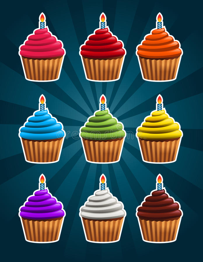 Download Vector Birthday Cupcakes Royalty Free Stock Image - Image: 29741016
