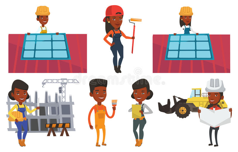 Download Vector Set Of Constructors And Builders Characters Stock Vector - Image: 83712702
