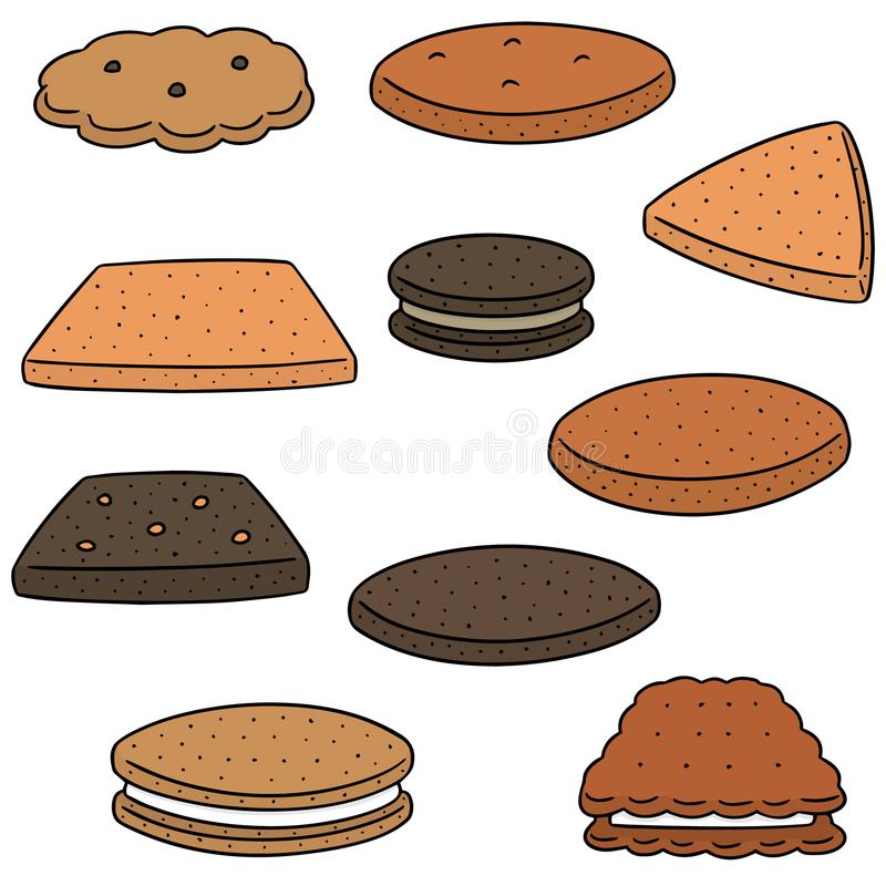 Vector set of cookies and biscuits stock illustration