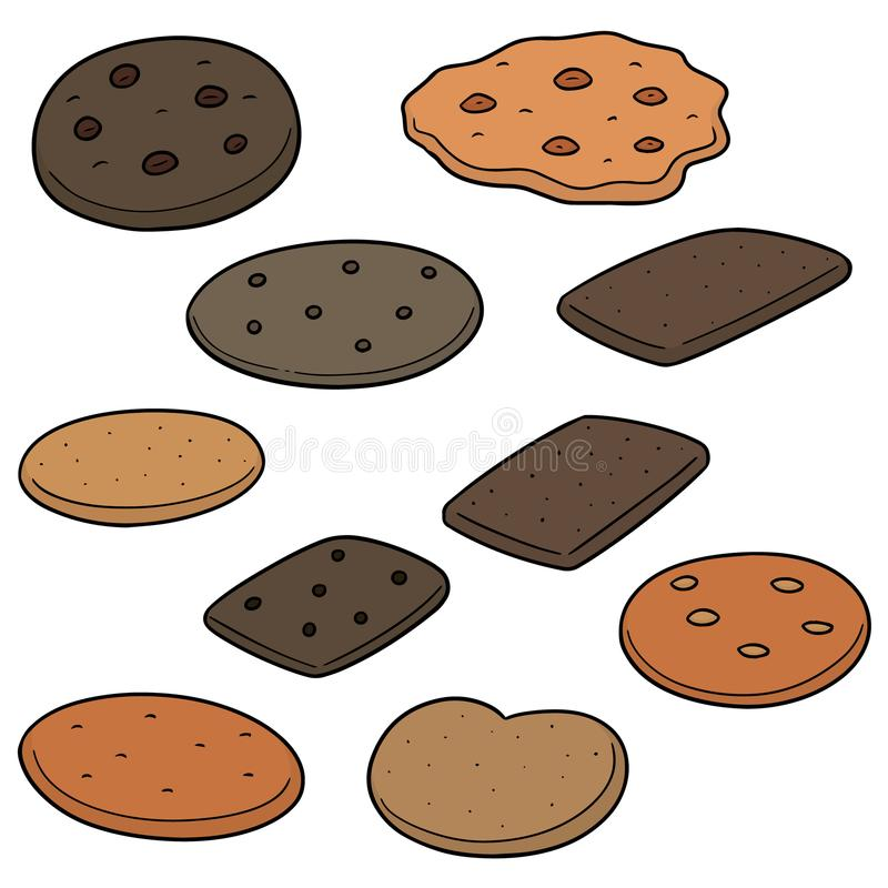 Vector set of cookies and biscuits vector illustration
