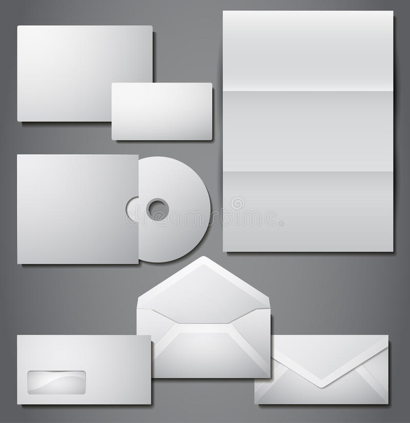 Download Vector Set Of Corporate Identity Stock Vector - Illustration of blank, background: 23868407