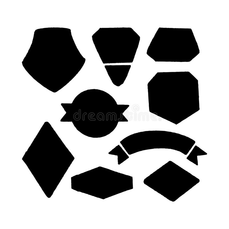 Vector set for the creation of a logo vector illustration