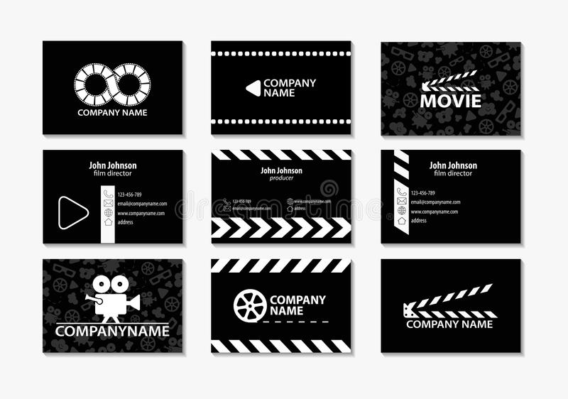 Vector set of creative business cards stock vector illustration of download vector set of creative business cards stock vector illustration of fashion clapperboard colourmoves