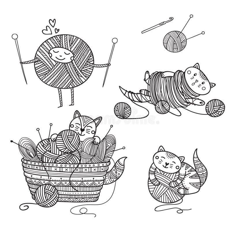 Woolen Yarn Ball Stock Illustrations - 1,588 Woolen Yarn ...