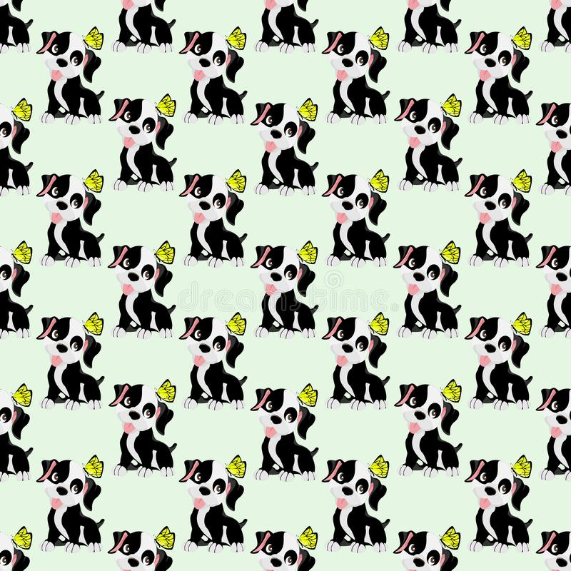 Vector set of cute dog stock illustration