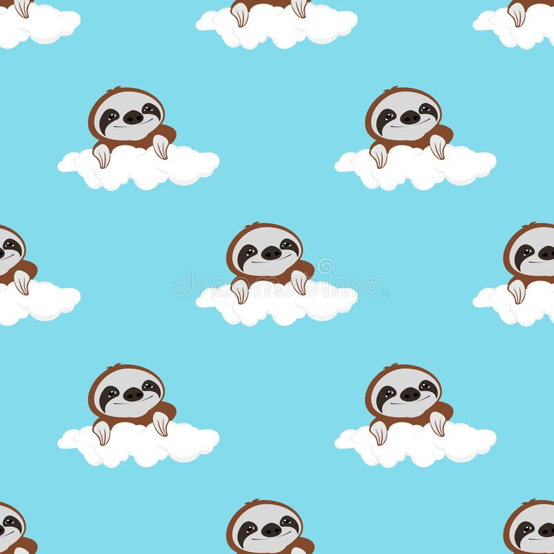 Vector set of cute sloths,adorable cartoon animal background,pattern with marijuana leaf. vector illustration