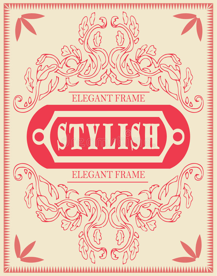 Vector set of design elements: antique and baroque frames and floral ornaments. Vintage cool template, invitation vector illustration