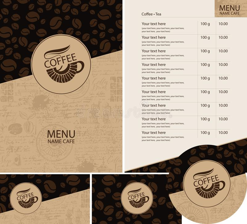 Vector Set Of Design Elements For Coffee House Stock Vector ...