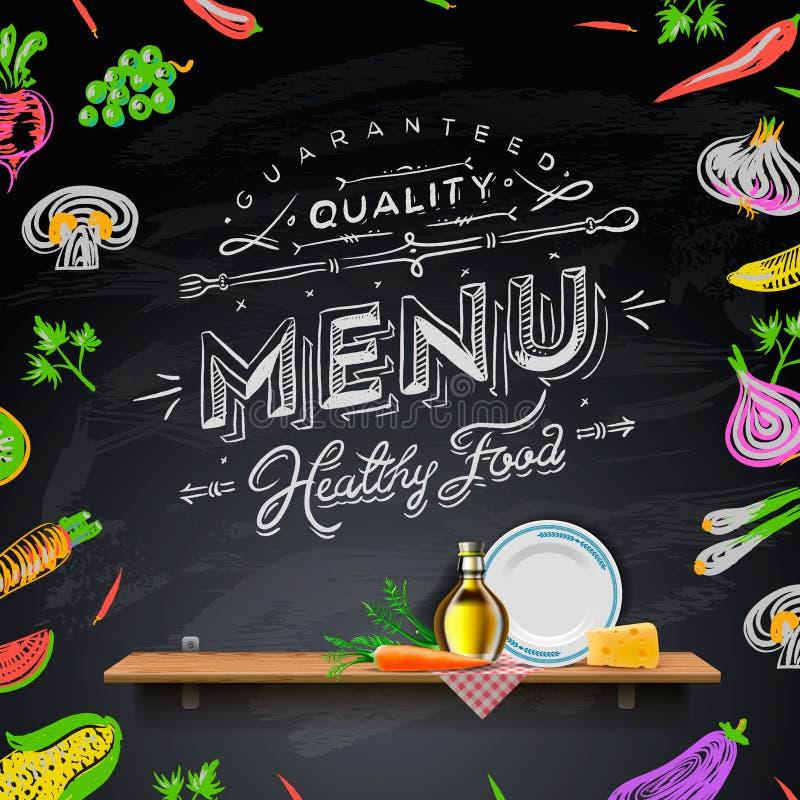 Vector set of design elements for the menu on the chalkboard. Eps10 image royalty free illustration