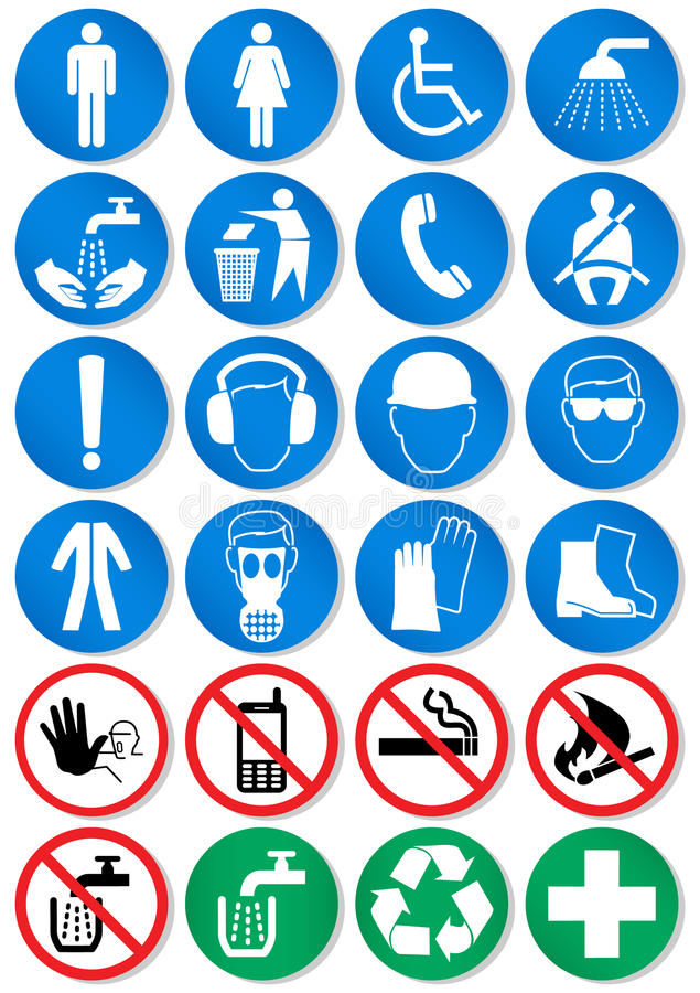 Vector set of different communication signs. Vector illustration set of different international communication signs. All vector objects and details are isolated stock illustration