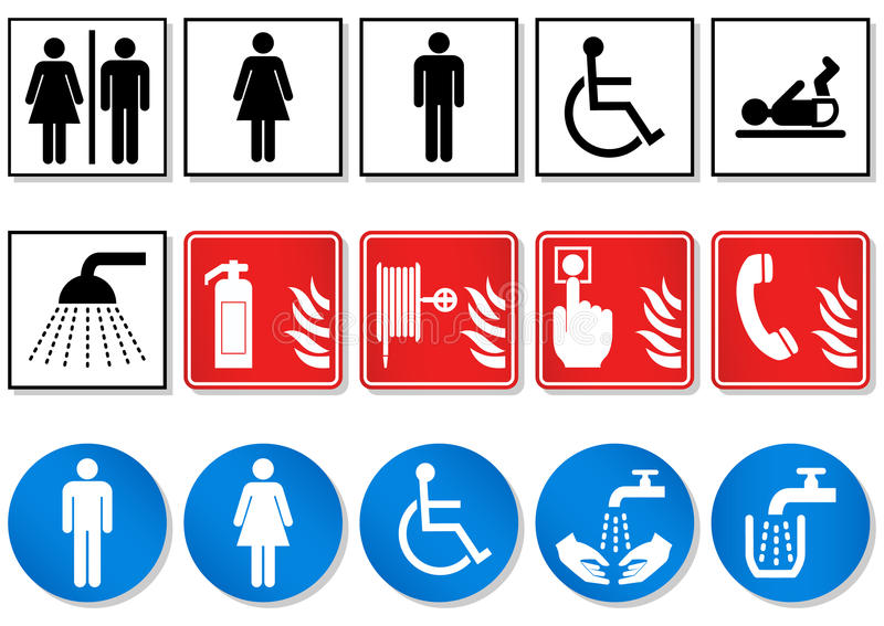 Vector set of different communication signs. royalty free illustration