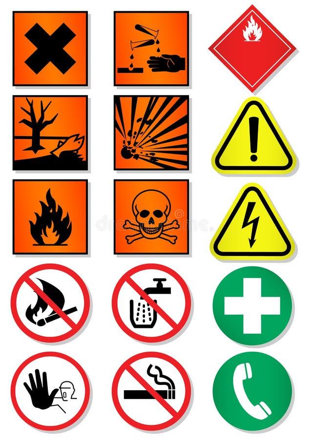 Vector set of different international signs. stock illustration